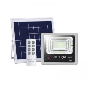 80W IP66 outdoor remote control solar flood light 01