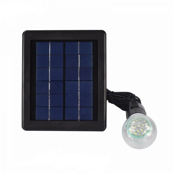 Solar led garden hanging light with single lamp bulb 01