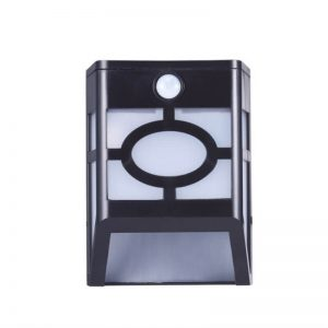 Solar power led motion sensor garden wall light 02