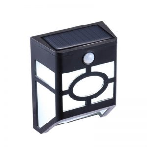 Solar power led motion sensor garden wall light 03