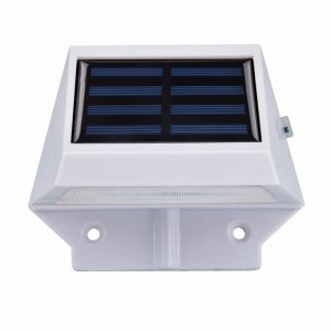 Outdoor decorative solar led garden wall light 01