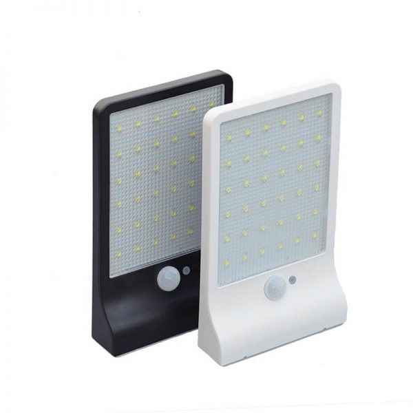 36 led remote control solar motion sensor wall lights 01