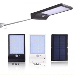 48 LED remote control solar motion sensor wall lights 01