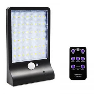 48 LED remote control solar motion sensor wall lights 02