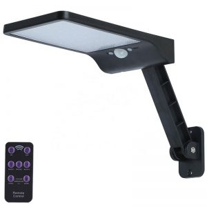 Remote control solar garden wall light with pole 01