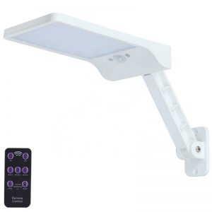Remote control solar garden wall light with pole 02
