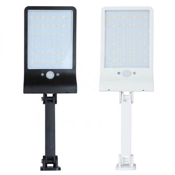 Remote control solar garden wall light with pole 03