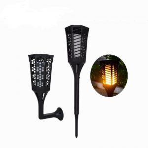 Flame flickering torches lantern solar led garden light 01
