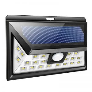 24 led solar wireless motion sensor security wall light 02