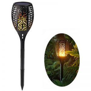 Flickering flame decoration torch solar lawn light 01