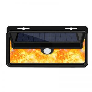 PIR motion sense flame IP65 solar wall light 01