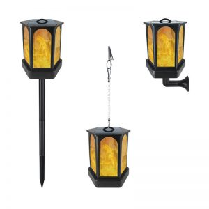 Multifunctional flickering flame solar lantern light 01