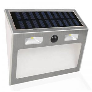 Stainless steel gate door sensor solar wall lights 02