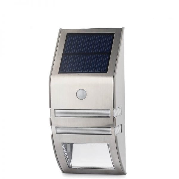 Stainless Steel PIR motion sensor solar wall mounted light 01
