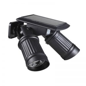 Telescope shape solar sensor wall light with 2 spotlights 01