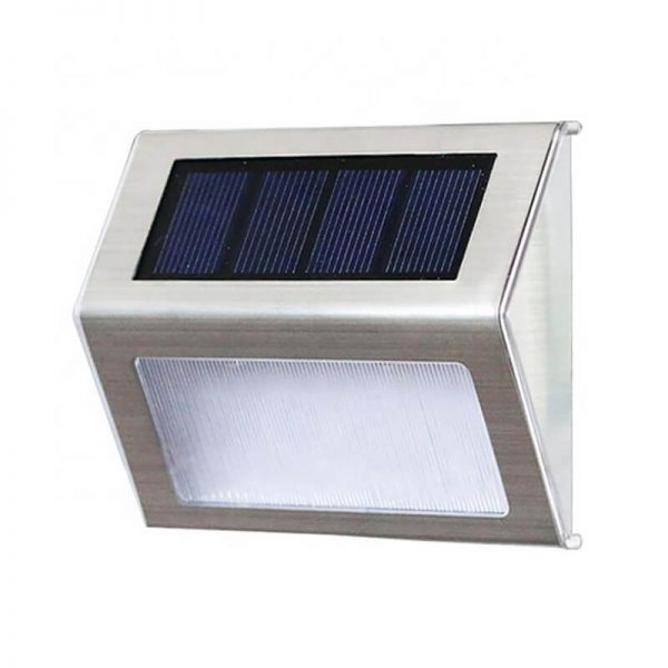Stainless steel step deck solar wall lights 01