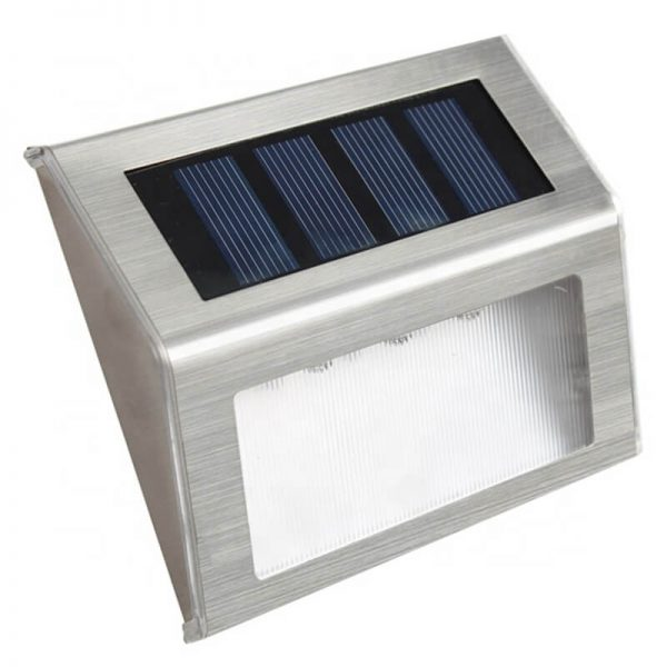 Stainless steel step deck solar wall lights 02