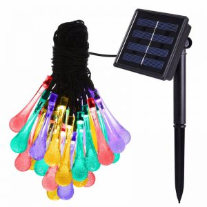 30 LED water drop solar string fairy waterproof lights 01