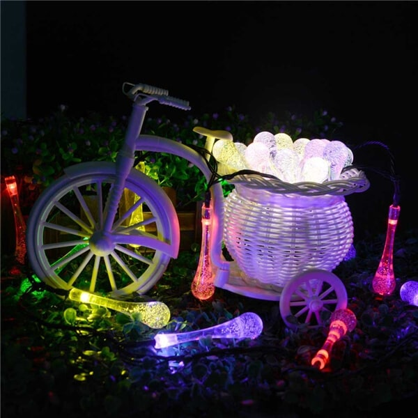 30 LED water drop solar string fairy waterproof lights 10