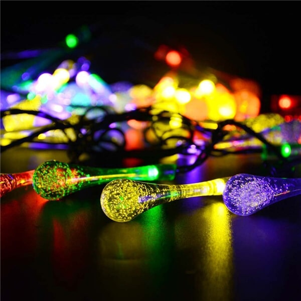30 LED water drop solar string fairy waterproof lights 06