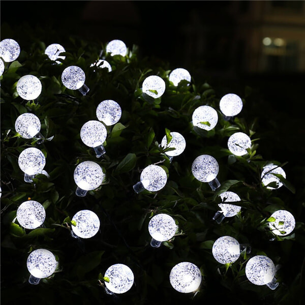 Solar led string lights with bubble crystal ball decorative 12