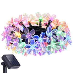 Christmas cherry blossom solar flower string lights 01
