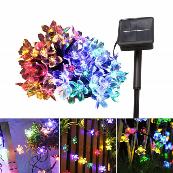 Christmas cherry blossom solar flower string lights 011
