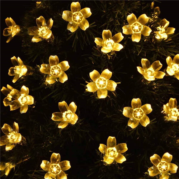 Christmas cherry blossom solar flower string lights 013