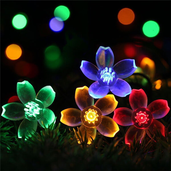Christmas cherry blossom solar flower string lights 014