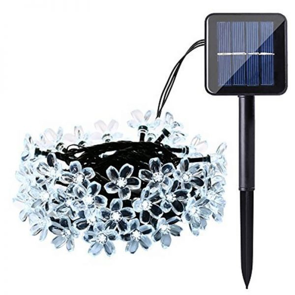 Christmas cherry blossom solar flower string lights 02