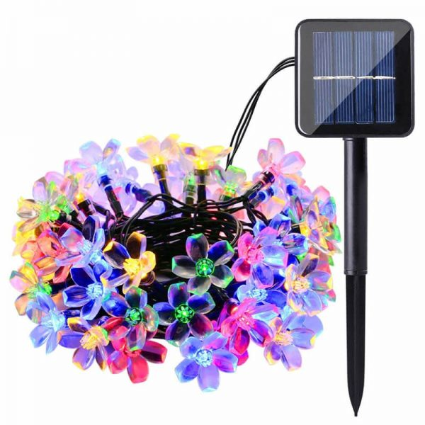 Christmas cherry blossom solar flower string lights 03