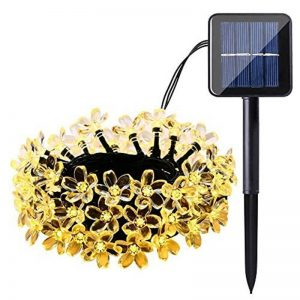 Christmas cherry blossom solar flower string lights 04