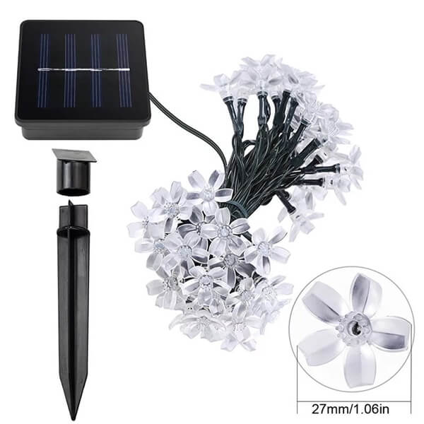 Christmas cherry blossom solar flower string lights 07