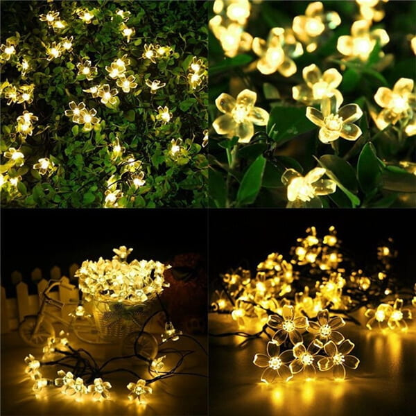 Christmas cherry blossom solar flower string lights 09