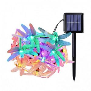 Dragonfly solar led string lights for party decorations 01