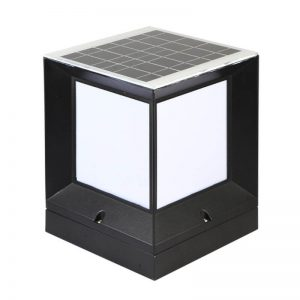 Outdoor square stigma solar retro column garden light 02