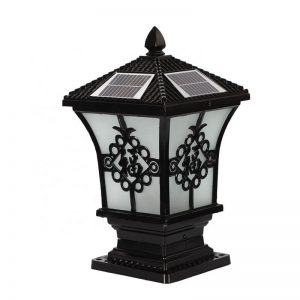 Square pillar meaning happiness solar post light 02