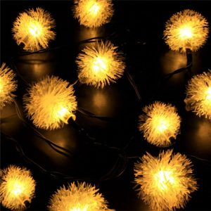 Solar Led puffer ball string lights 2