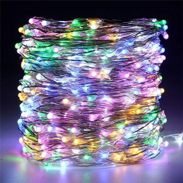 200 led solar copper wire fairy string lights 10