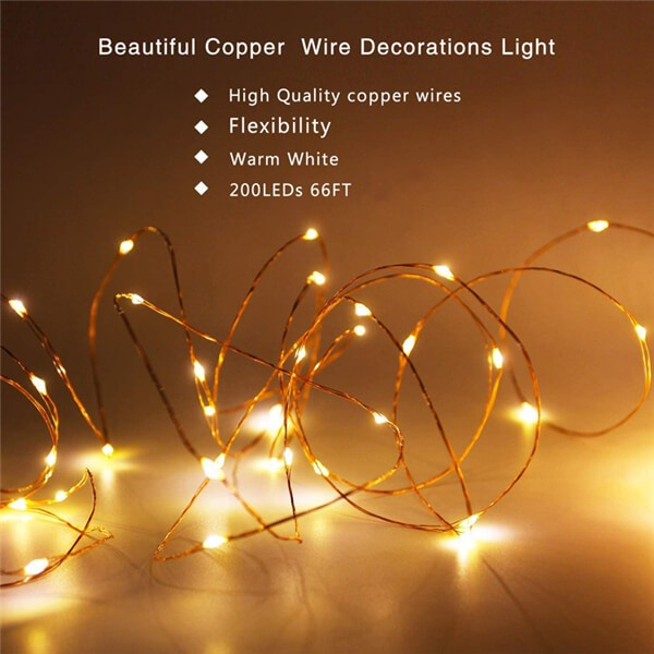 Beautiful Copper Wire Decorations Light