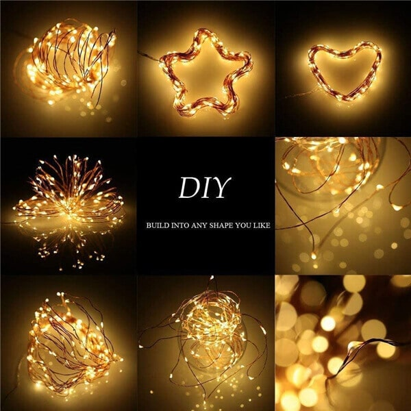200 led solar copper wire fairy string lights 14