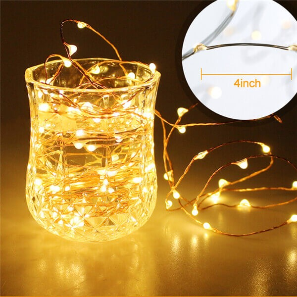 200 led solar copper wire fairy string lights 16