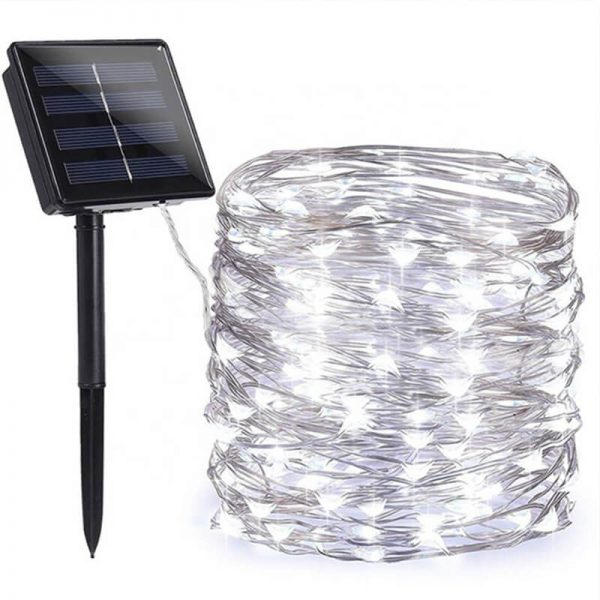 200 led solar copper wire fairy string lights 2