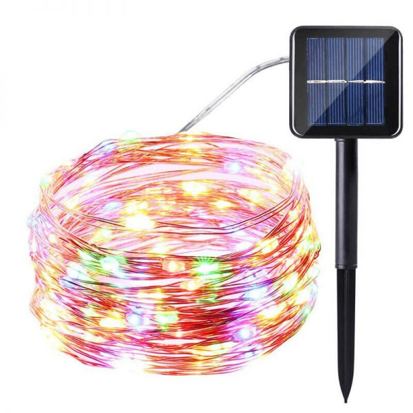 200 led solar copper wire fairy string lights 3