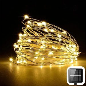 200 led solar copper wire fairy string lights 4