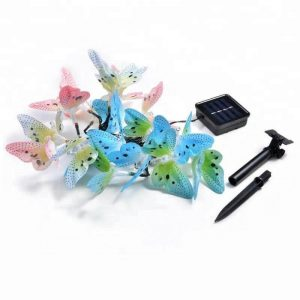 12 led solar fiber optic butterfly string lights 1