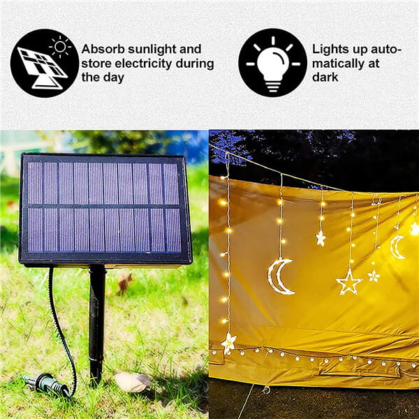 Absorb sunlight and store electricity during the day