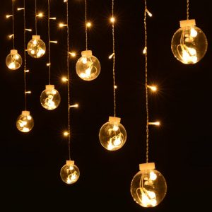 Solar wish ball curtain twinkle fairy string lights 1