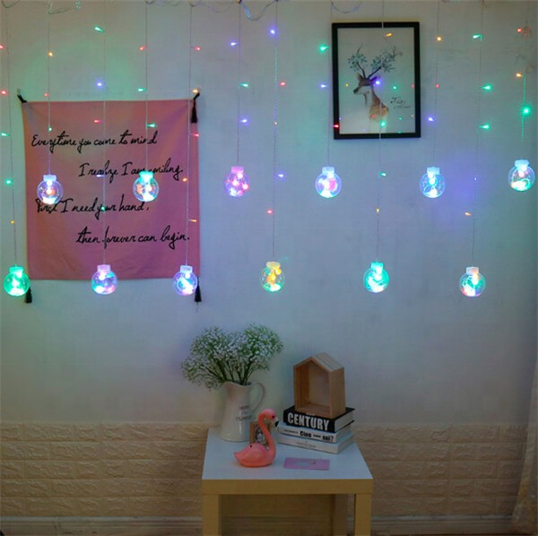 Solar wish ball curtain twinkle fairy string lights 10