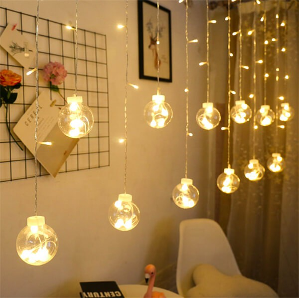 Solar wish ball curtain twinkle fairy string lights 4